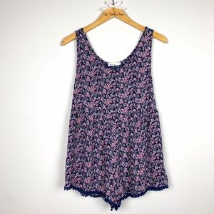 Paper Crane | Floral Romper Embroidered SZ Small